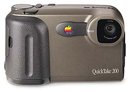 apple quicktake 200, fuji ds-7 , samsung kenox ssc-350n digital camera 1996