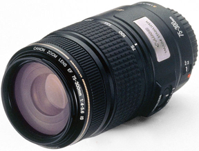 canon ef 75-300 mm first lens to incorporate image stabilization technology 1995