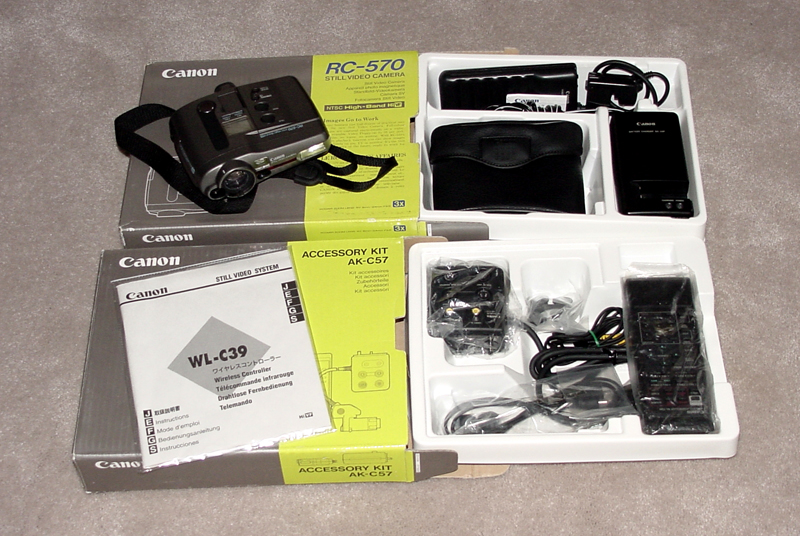 canon rc-570 mac and still video camera and ak-c57 kit 1992