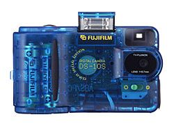 fuji dx-5 blue transparent digital camera 1997