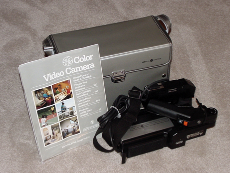 ge 1cvc4030e video camera and tape recorder 1984