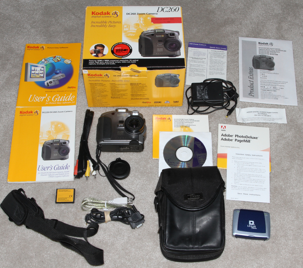 Kodak DC260 and 260 Pro digital camera kit