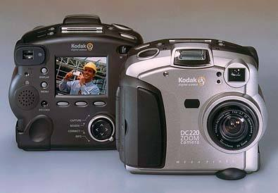 kodak dc220 zoom, dc220 pro vintage digital camera 1998