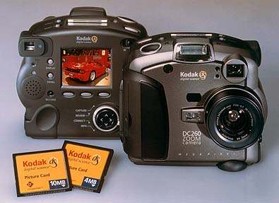 kodak dc260 zoom, dc260 pro vintage digital camera 1998