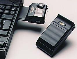 nikon coolpix 100 first camera with carfd slot for inserting a pc card camera 1996
