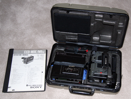 sony ccd-m8 8 mm camcorder case interior